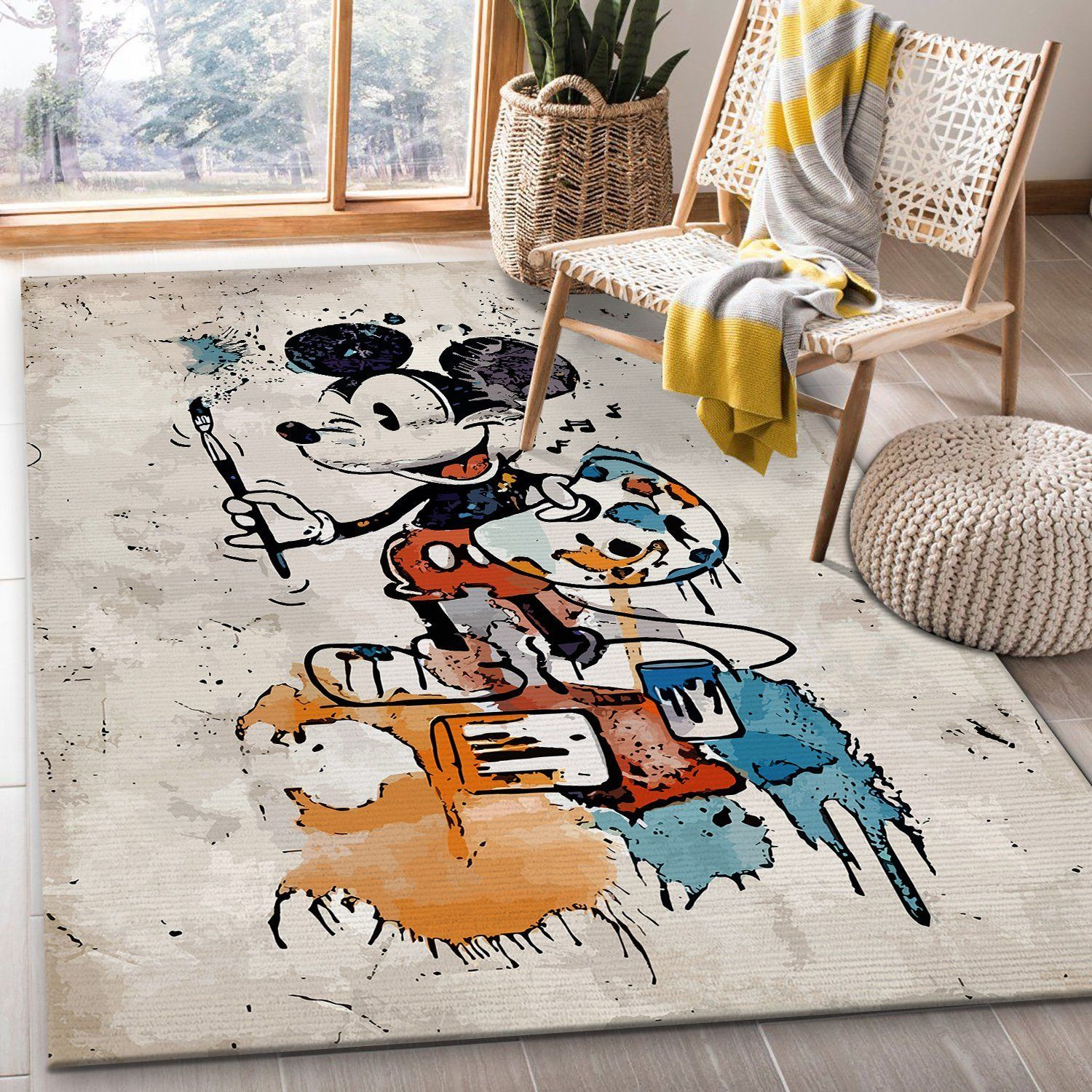 Mickey Mouse Drawing Rug