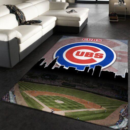 Chicago Cubs MLB Team Logo Rug