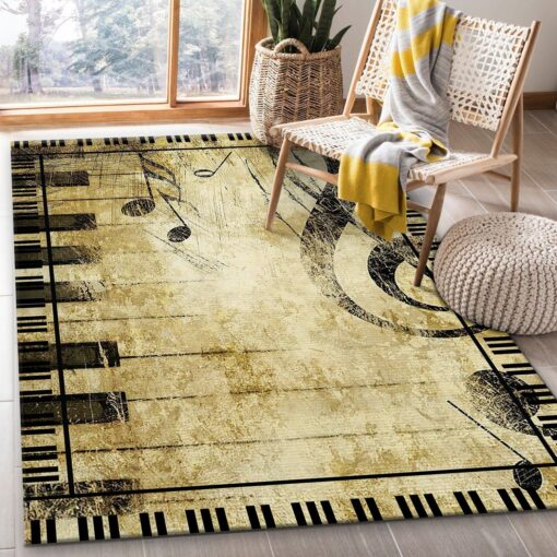Piano Notes Rug