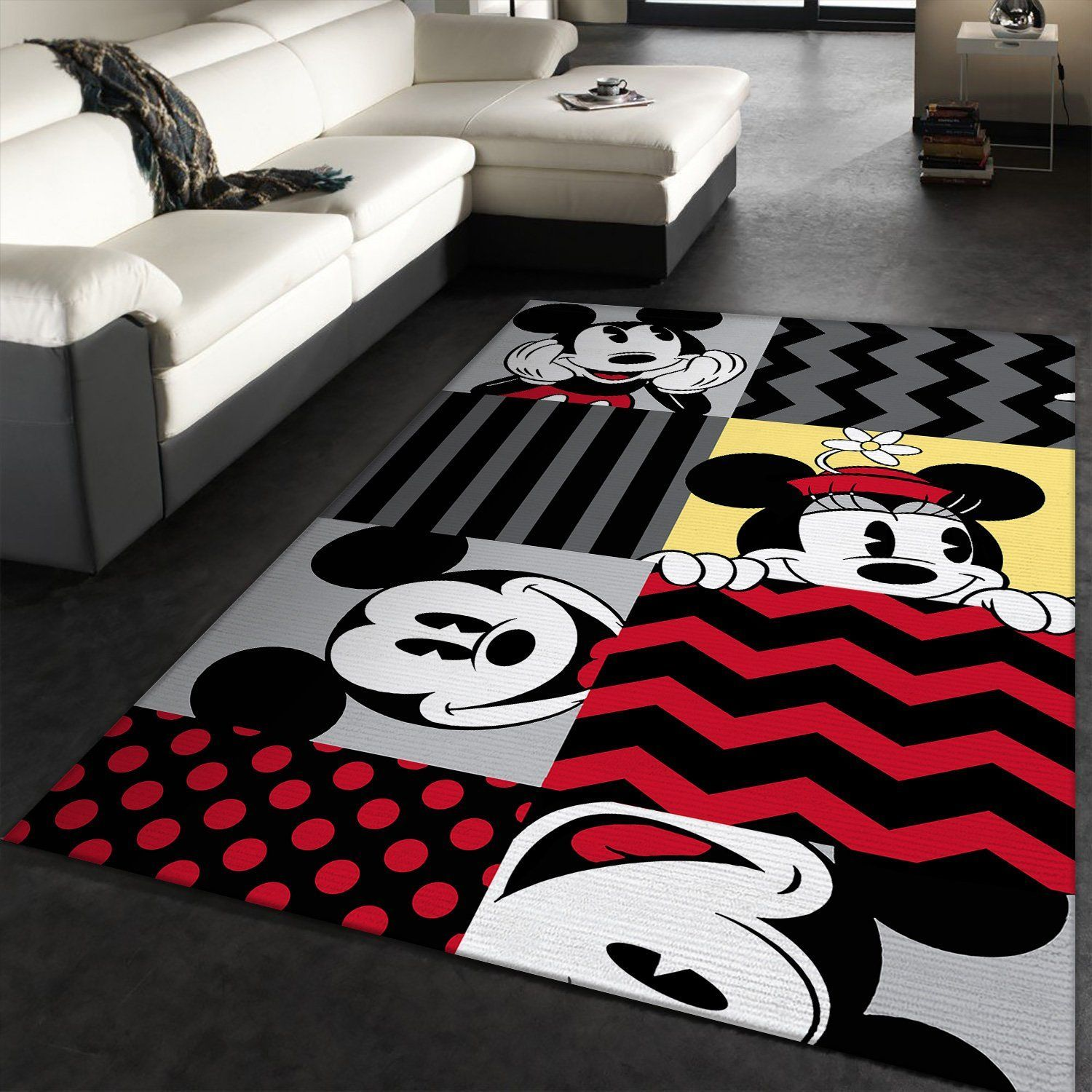 Mickey Mouse Pattern Rug