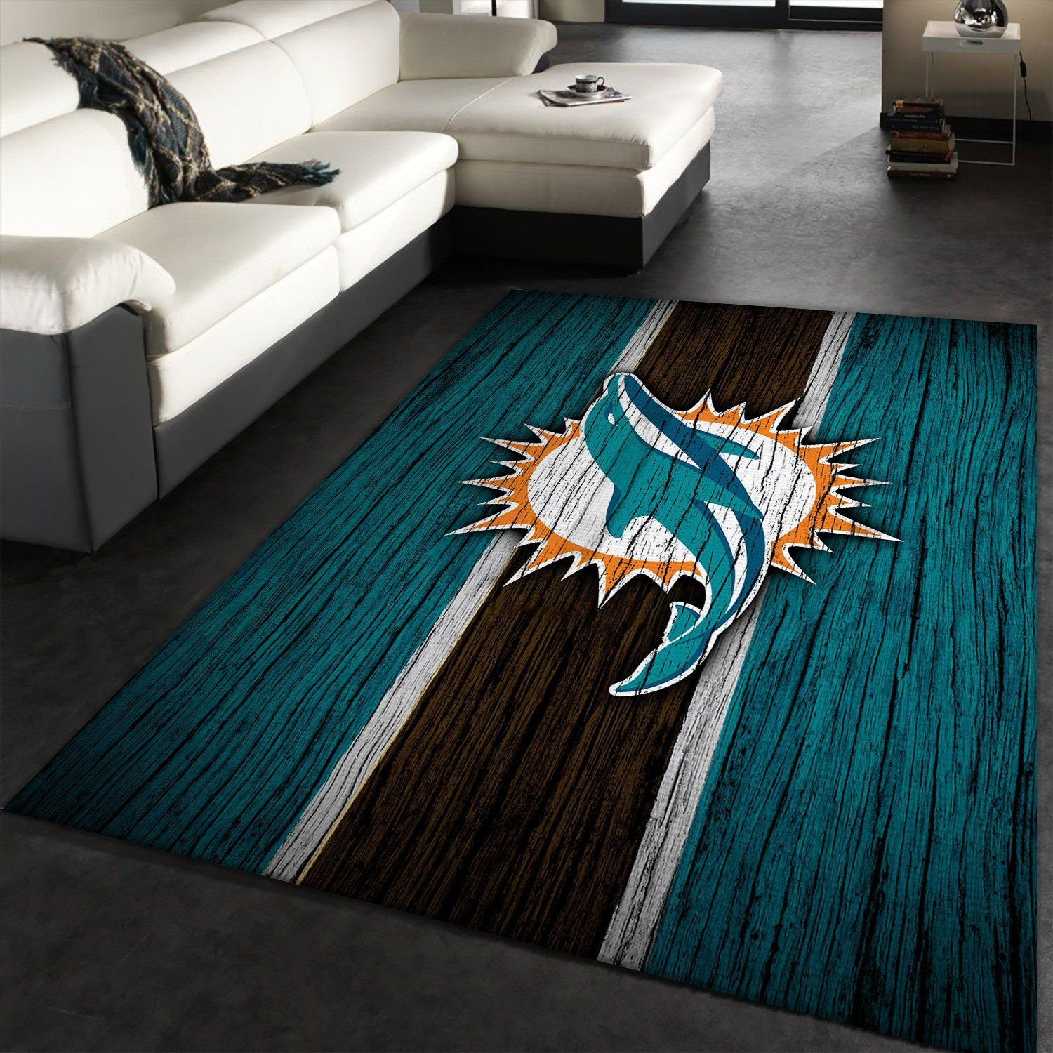Miami Dolphins NFL Rug