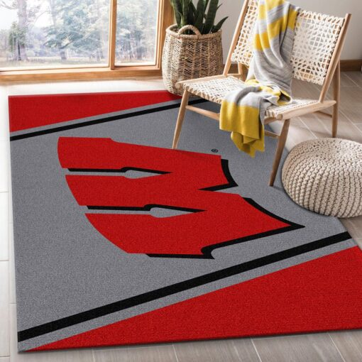 Wisconsin Badgers Rug Team Logo