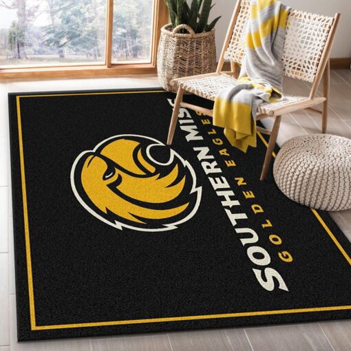 Southern Miss Golden Eagles Rug
