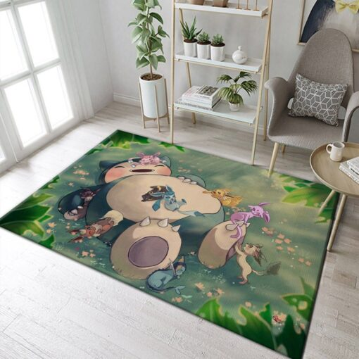 Snorlax Eeveelutions Nap Pokemon Rug