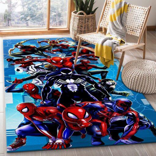 Black Spiderman Rug