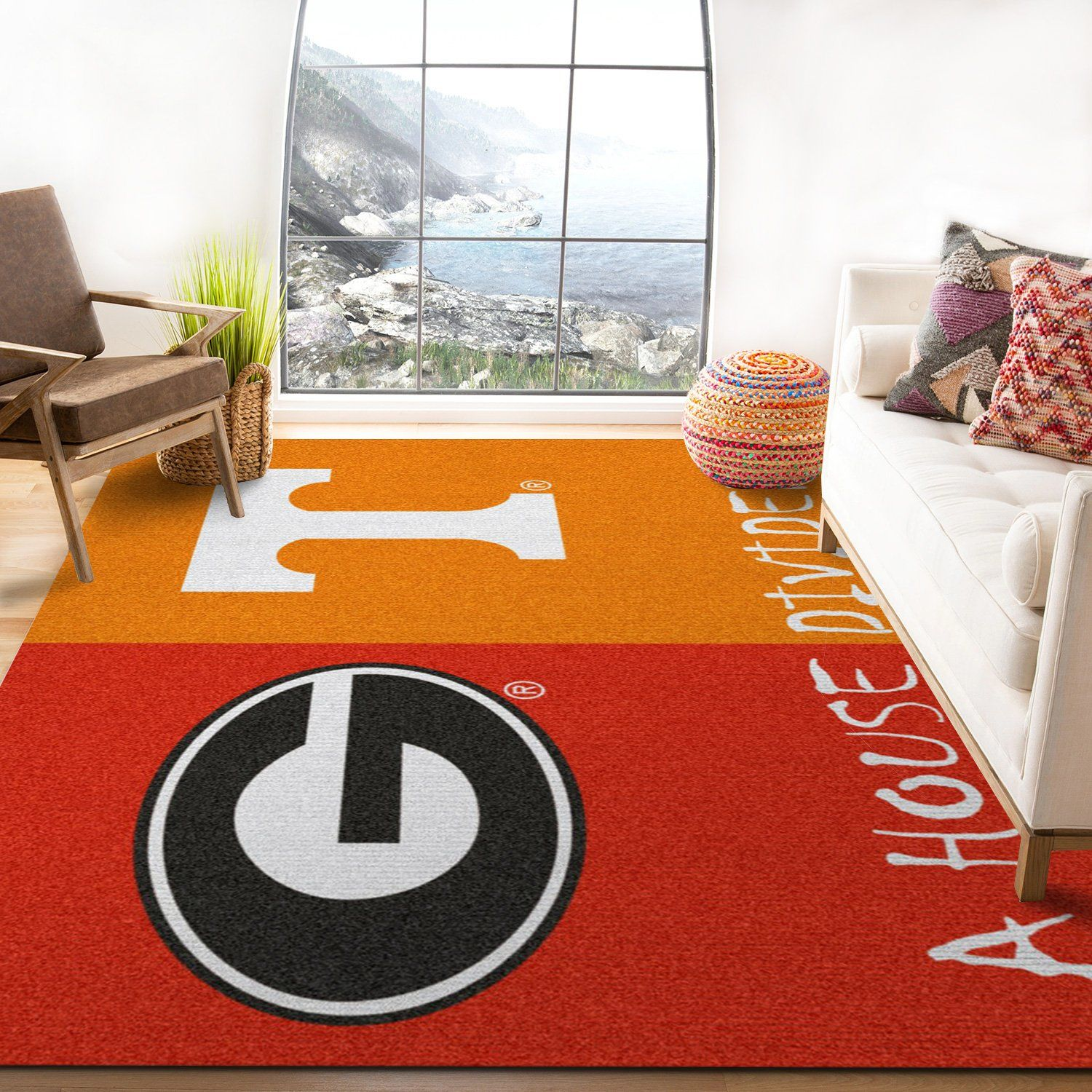Georgia Ft Tennessee Ncaa Synthetic Rug