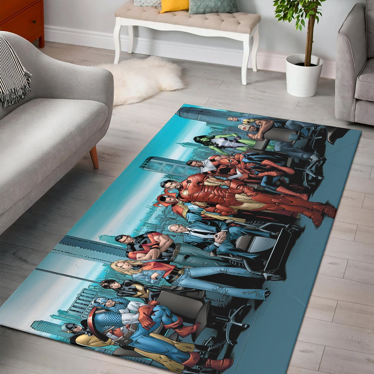 Iron Man And Characters Marvel Avengers Rug