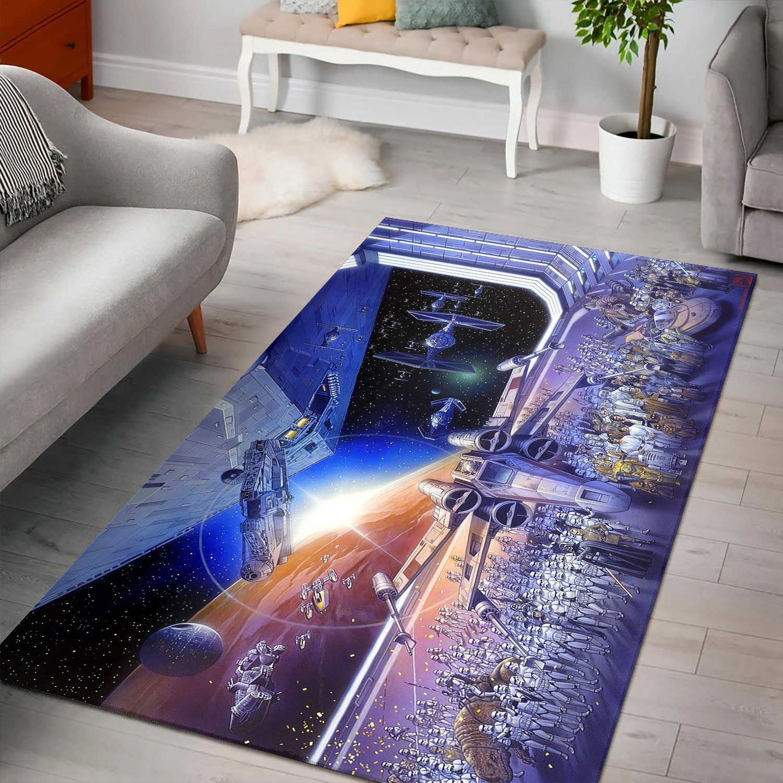 X-wing Starfighter Star Wars Rug