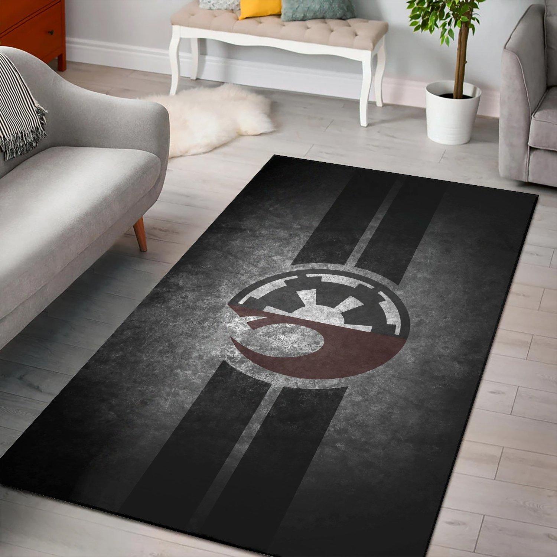 Rebel And Empire Logo Star Wars Rug