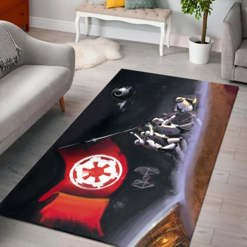 Stormtroopers Raising Flag Star Rug