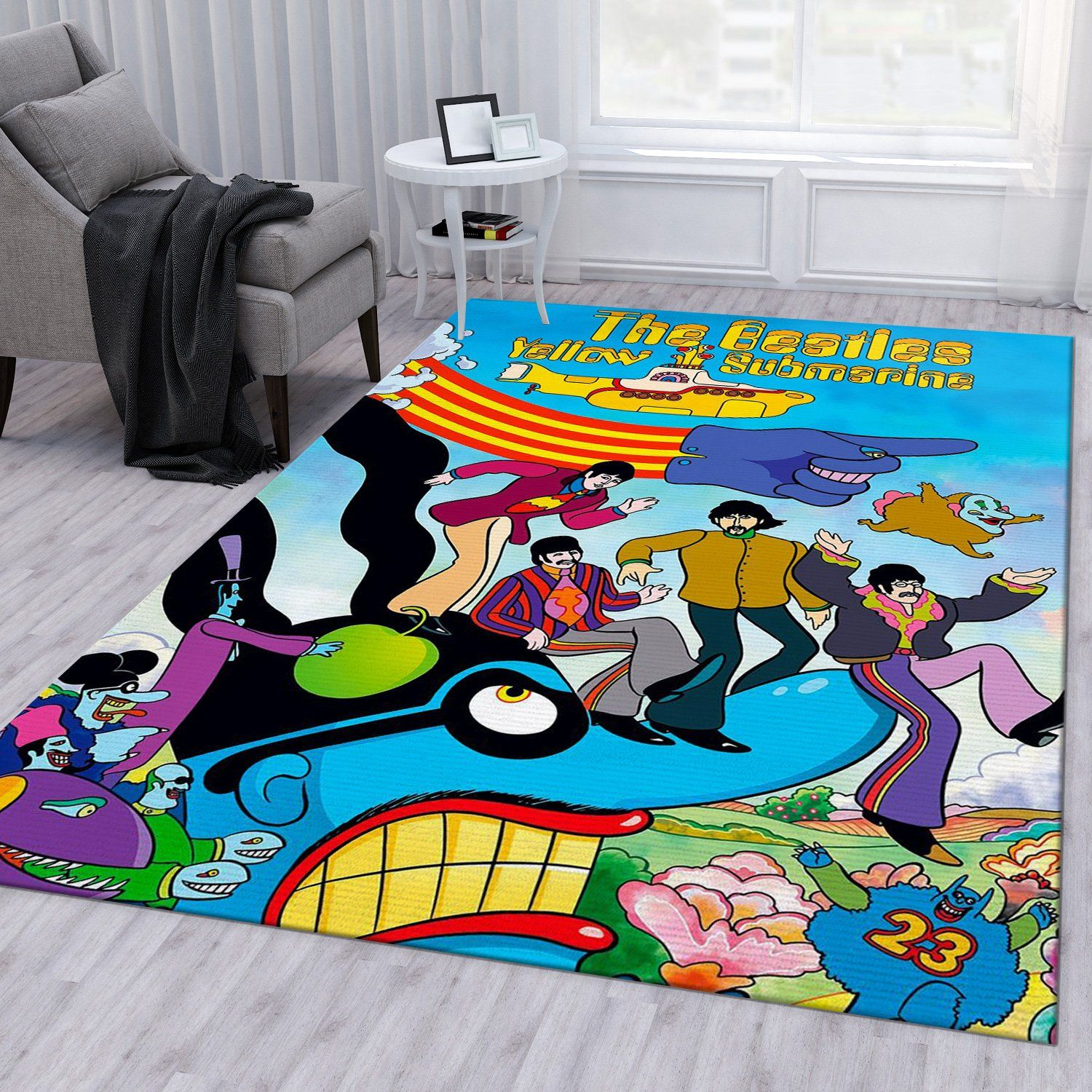 The Beatles Cartoon Rug